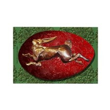 Spring Hare & Red Egg Rectangle Magnet (10 pack)