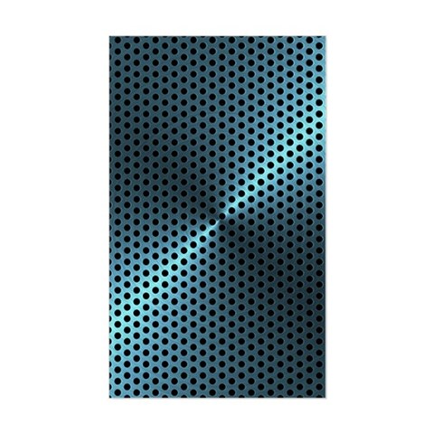 Turquoise Metal Plate Decal