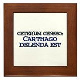 """Ceterum Censeo: Carthago"" Framed Tile"