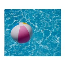 Beach ball in swimming pool the pict Throw Blanket