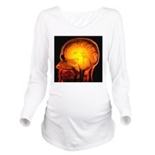 Brain anatomy, MRI s Long Sleeve Maternity T-Shirt