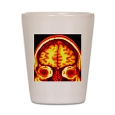 Brain, MRI scan Shot Glass