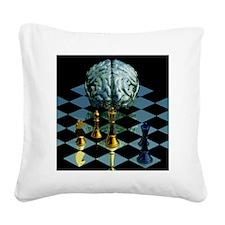 Brainpower Square Canvas Pillow