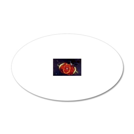 Cat's Eye Nebula and the Hub 20x12 Oval Wall Decal