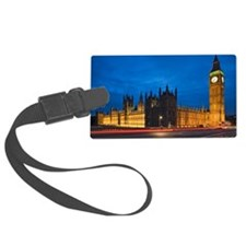 Big Ben at night, London, Englan Luggage Tag