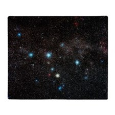 Cassiopeia constellation Throw Blanket