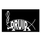 Druid Fish Rectangle Bumper Stickers