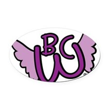 Winged BCW Logo Oval Car Magnet