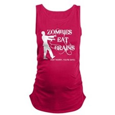 Zombies Eat Brains Maternity Tank Top