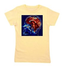 Coloured MRI scan of brain in sagittal  Girl's Tee