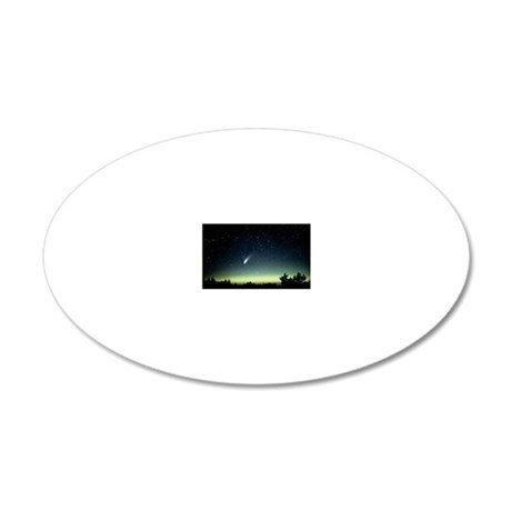 Comet Hale-Bopp and aurora b 20x12 Oval Wall Decal