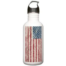 Distress USA Flag Water Bottle