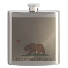 Gold California Republic Flask