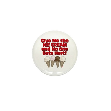 Give me Ice Cream Mini Button (100 pack)