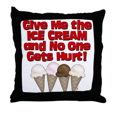 Give me Ice Cream Throw Pillow