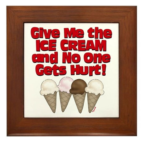 Give me Ice Cream Framed Tile