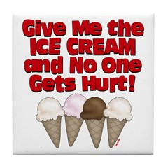 Give me Ice Cream Tile Coaster