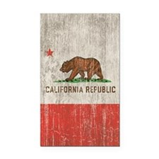 Vintage California Republic Rectangle Car Magnet