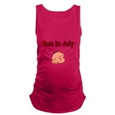 Due In July -Baby Face Maternity Tank Top