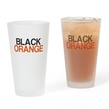 I Bleed Black and Orange Drinking Glass