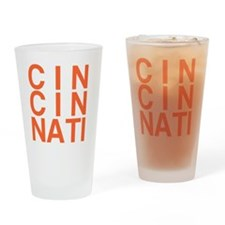 CINCINATI, Typography Drinking Glass