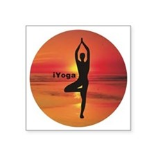 "iYoga Square Sticker 3"" x 3"""