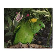 Yellow Nape Amazon Parrot Throw Blanket