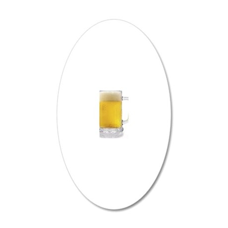 Beer Mug 20x12 Oval Wall Decal