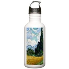 Wheat Field with Cypre Water Bottle