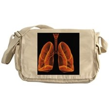 Computer artwork of healthy human lu Messenger Bag