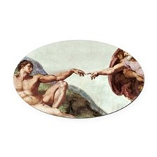 Creation of Adam Oval Car Magnet