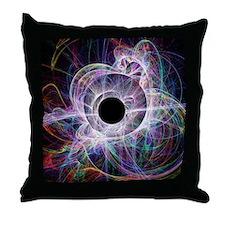 Conceptual computer artwork of a blac Throw Pillow