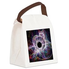 Conceptual computer artwork of a  Canvas Lunch Bag