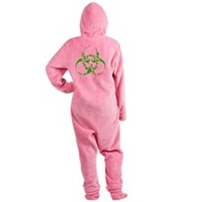 Whats Your Zombie Plan? Footed Pajamas