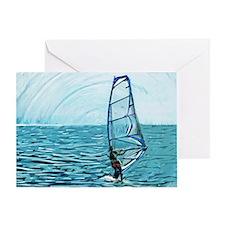 windsurf Greeting Card