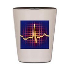 ECG trace Shot Glass