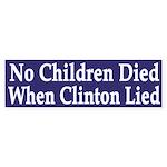 No Children Died When Clinton Lied