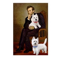 Lincoln-Two Westies-StarD Postcards (Package of 8)