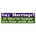 Fine Gay Marriage Bumper Sticker