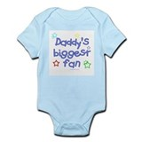 Daddy's Biggest Fan  Baby Onesie