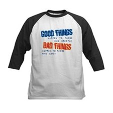 Wrestling Bad Things Baseball Jersey