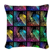 Fingerprints Woven Throw Pillow