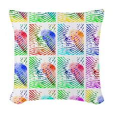 Fingerprints Woven Throw Pillow