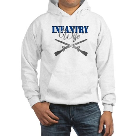 Infantry Wife Symbol Hooded Sweatshirt