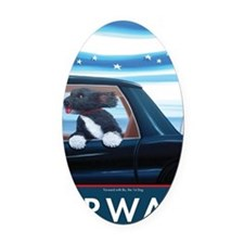 Forward with Bo, the 1st Dog Oval Car Magnet