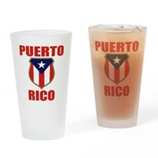 puerto rico (lk) Drinking Glass