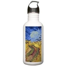 Wheatfield with Crows Water Bottle