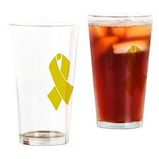 TAB NYE shirt front Drinking Glass
