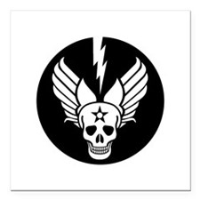 "Death From Above - Mors  Square Car Magnet 3"" x 3"""