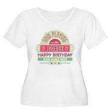 Personalized Happy Birthday Retro Jukebox Plus Siz